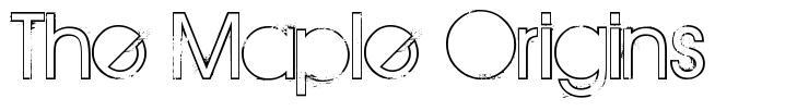 The Maple Origins 字形