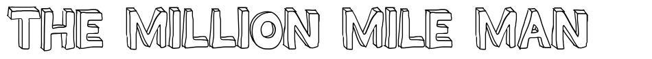 The Million Mile Man font