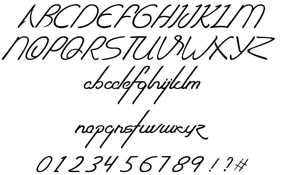 The Quadro font