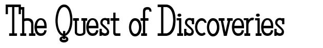 The Quest of Discoveries font