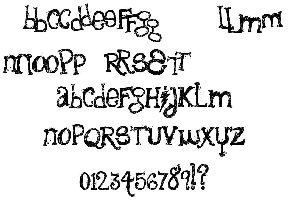 The Quiet Scream font