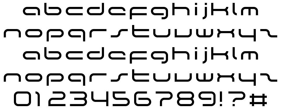 The Rush font