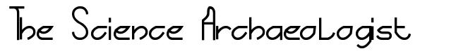 The Science Archaeologist font