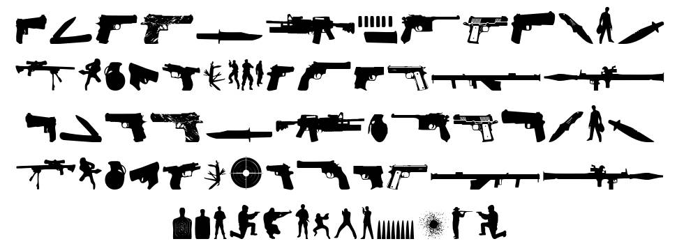 The Shooter font