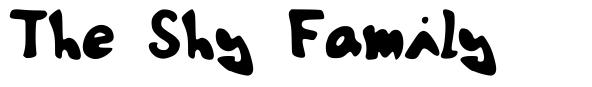 The Shy Family font