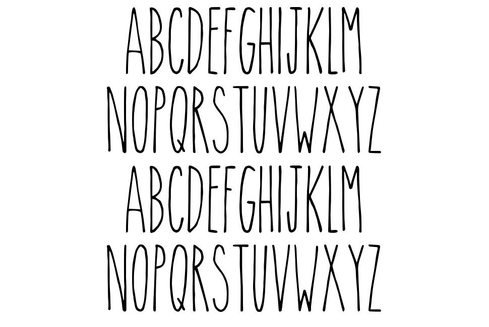 The Skinny font
