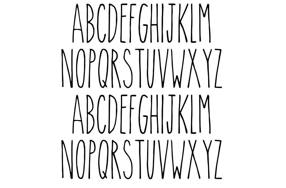 The Skinny font
