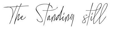 The Standing still font
