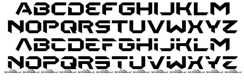 The Starwild font