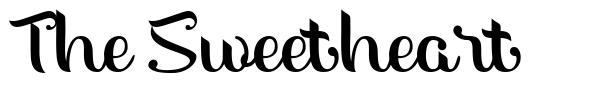 The Sweetheart font