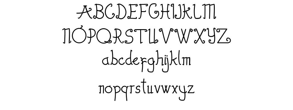 The Wambires font