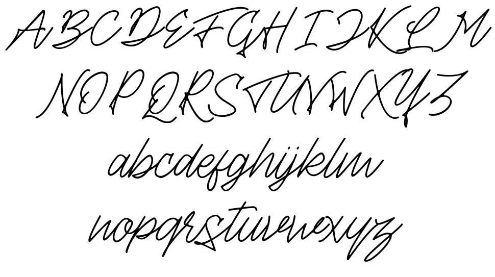 Theandous font