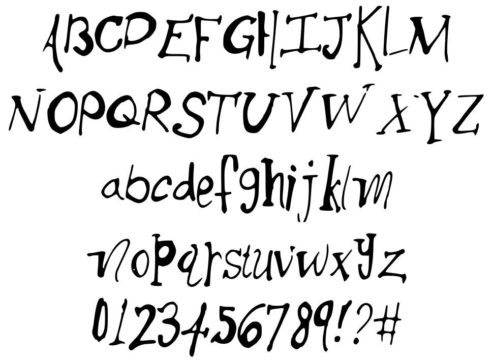 Thick Side font