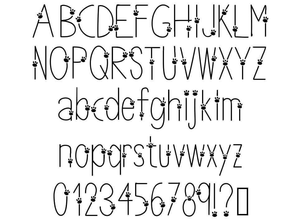 Thin Paws font
