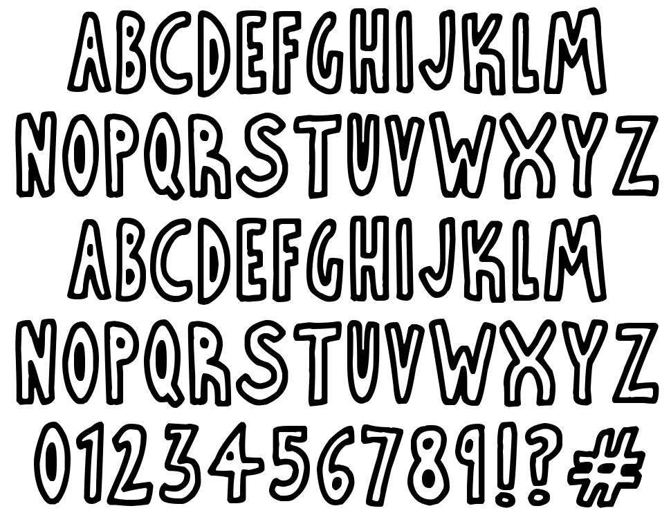 Thin Toon Outlines font