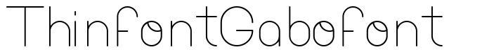 ThinfontGabofont font