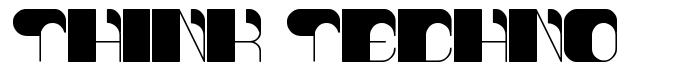 Think Techno font