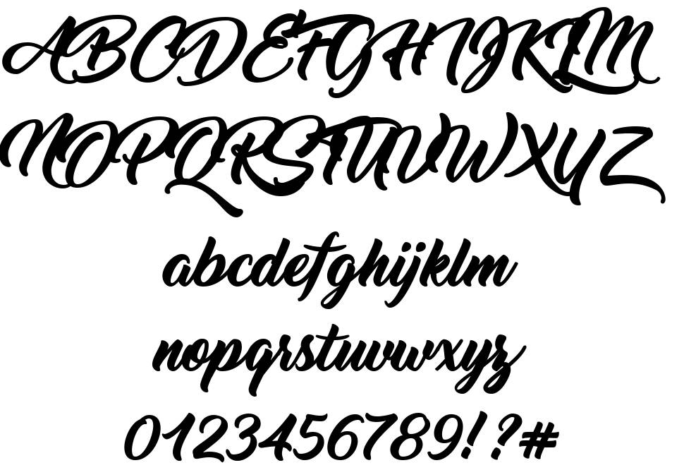 Thinking Of Betty font