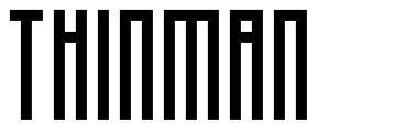 Thinman шрифт