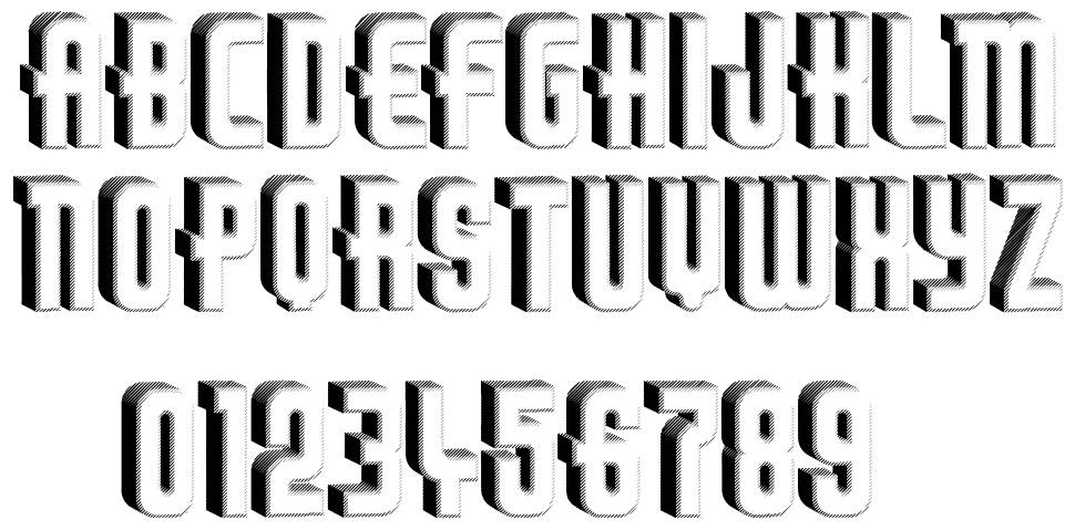 Thirties Relief font