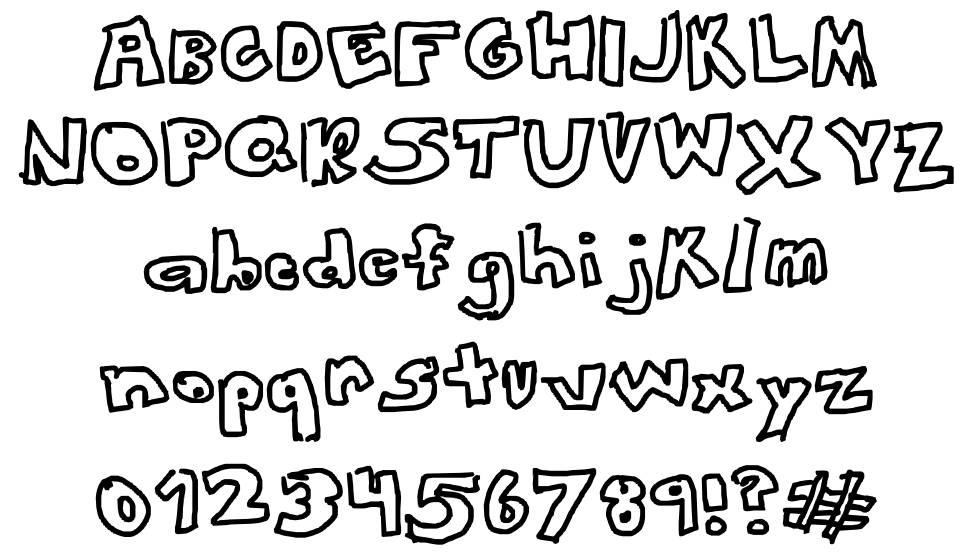 This Font Looks Awesome font