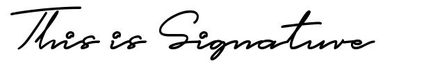 This is Signature