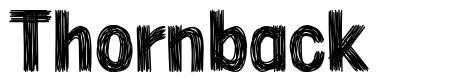 Thornback font