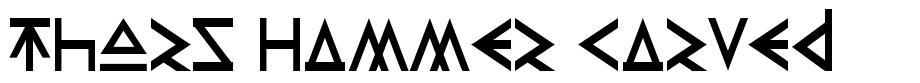 Thors Hammer Carved font