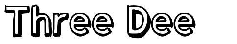 Three Dee font