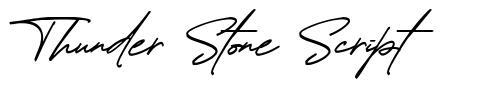 Thunder Stone Script font