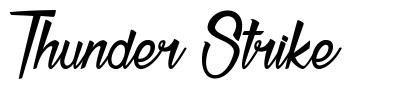 Thunder Strike font