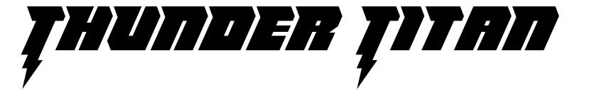 Thunder Titan font