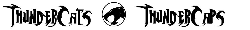 ThunderCats + ThunderCaps font