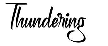 Thundering font