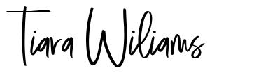 Tiara Wiliams font