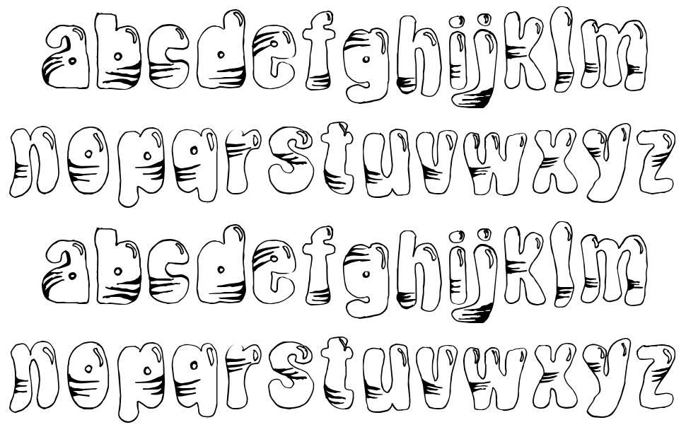 Tiger Balloon font