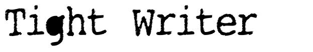 Tight Writer font