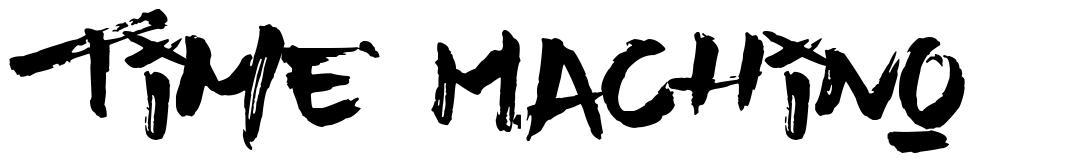 Time Machino font