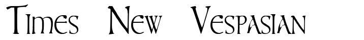 Times New Vespasian font