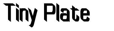 Tiny Plate font
