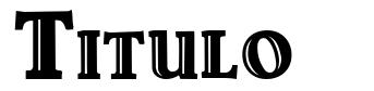 Titulo font