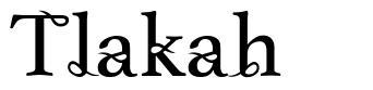 Tlakah font