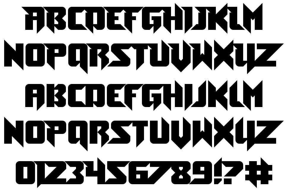 Toe the Lineless font