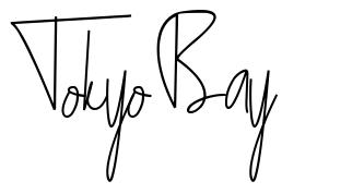 Tokyo Bay font