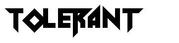 Tolerant font