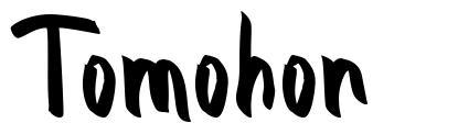 Tomohon písmo