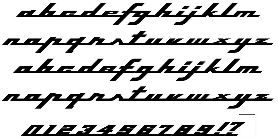 Top Speed font