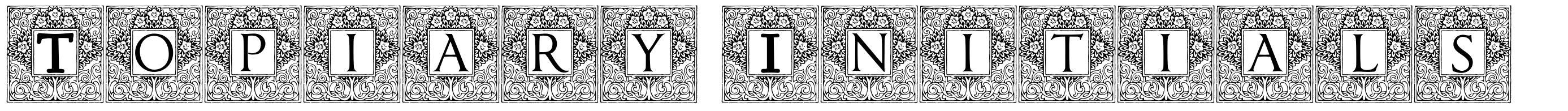 Topiary Initials font