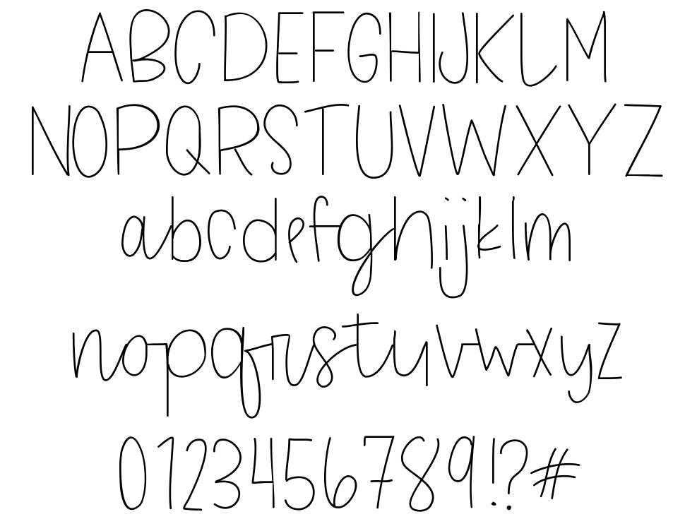 Tough Cookies font