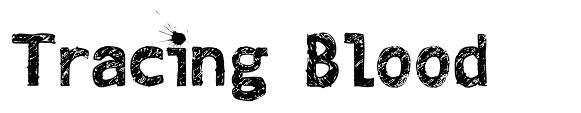 Tracing Blood font